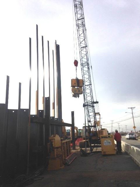 Alternate tMatunuck Beach Road sheet pile wall installation projectext